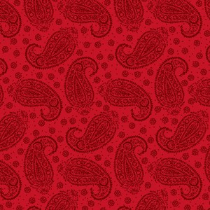 Red Paisley Pattern