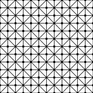 White And Black Grid Lattice Pattern