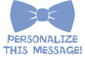 Personalized Blue Bow Tie