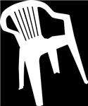 White Plastic Chair T-shirts