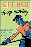 Retro Get Hot Keep Moving T-shirts