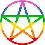 Rainbow Pentacle T-shirts & Gifts