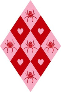 Spider Heart Diamond Pattern