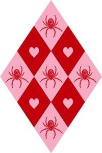 Spider Heart Diamond Pattern
