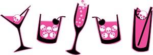 Pink Skull Cocktails