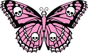 Pink Skull Butterfly