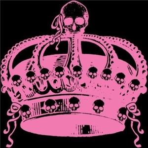 Pink Crown With Skulls
