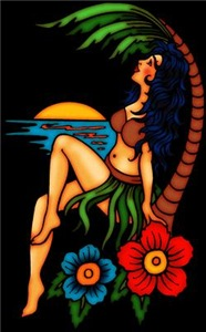 Island Sunset Tattoo Art