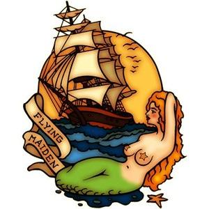 Pirate Ship Mermaid Tattoo Art