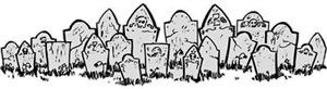 Row Of Gravestones