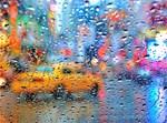 Times Square Taxi: Rain Storm