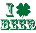I Love Beer Irish Shamrock