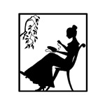 Silhouette Woman with Embroidery Hoop