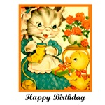 Happy Birthday - Crafty Knitting Kitten