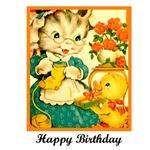 Happy Birthday - Crafty Knitting Kitten