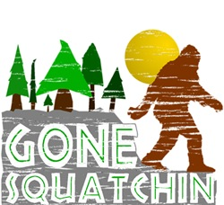 Retro Vintage Distressed Gone Squatchin Gifts