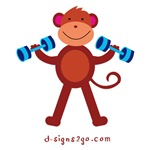 Workout Monkey - Blue