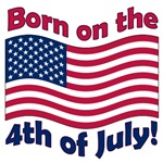 Born on the 4th of July t-shirts, July 4th gifts