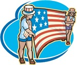 USA Flag Girls T-Shirts