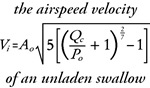The mathematical forumula of the airspeed velocity of an unladen swallow.  Very geeky.