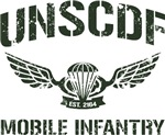 UNSCDF Mobile infantry (army green distressed)