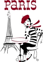 Paris Tourist | Retro Jet Setter French Fashion T-shirts & Gifts