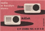 2 Radios Matchbox Label