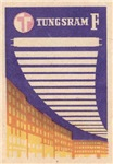 Tungsram F Matchbox Label
