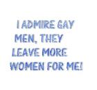 I admire gay men