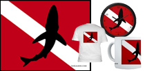 Signature Shark Logo Dive Flag