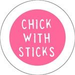 Chick with Sticks