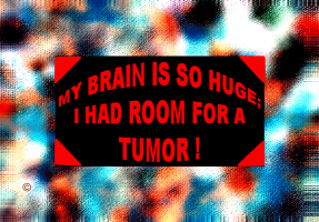 HUMOR/MY HEAD IS SO HUGE;I HAD ROOM FOR A TUMOR