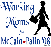 Working Moms for McCain Palin Tees