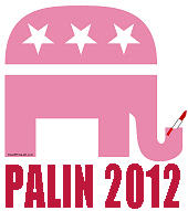 Pink GOP Elephant PALIN 2012