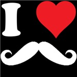 I HEART MOUSTACHES LOVE