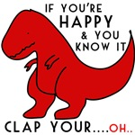 dinosaur loves clapping