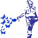 Pepper Spray Cop Butterflies