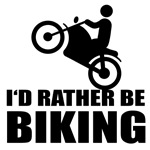 Motorcycle, I'd rather be biking. Bikers clothes.