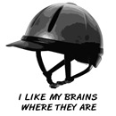 I like my brains. Horse riding helmet