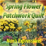 Spring Flower Patchwork Quilt