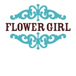 Flower Girl (Chocolate Brown and Tiffany Blue)