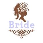 Cameo Bride (Periwinkle & Brown)