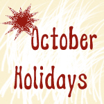 October Strange Holidays