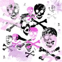 Pink & Black Skulls