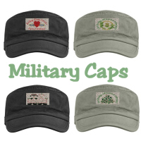 New! Embroidered Miltary Caps