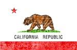 CALIFORNIA FLAG DISTRESSED IMAGE