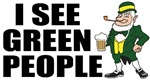 I See Green People Saint Patrick's T-Shirts