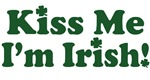 Kiss Me I'm Irish Shamrocks T-Shirts