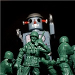 Army men and Giant Robot.