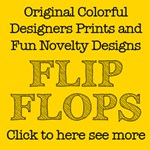 Artistic flip flops